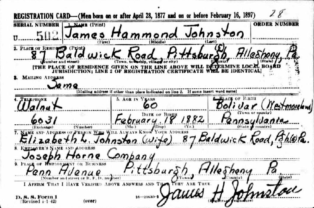 James Hammond Johnston