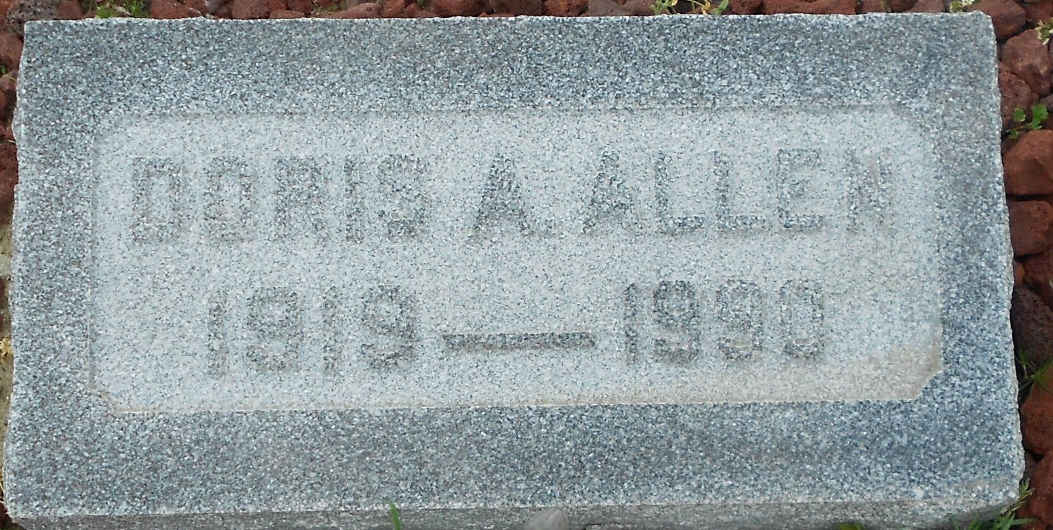 Doris Adeline <i>Allen</i> Allen