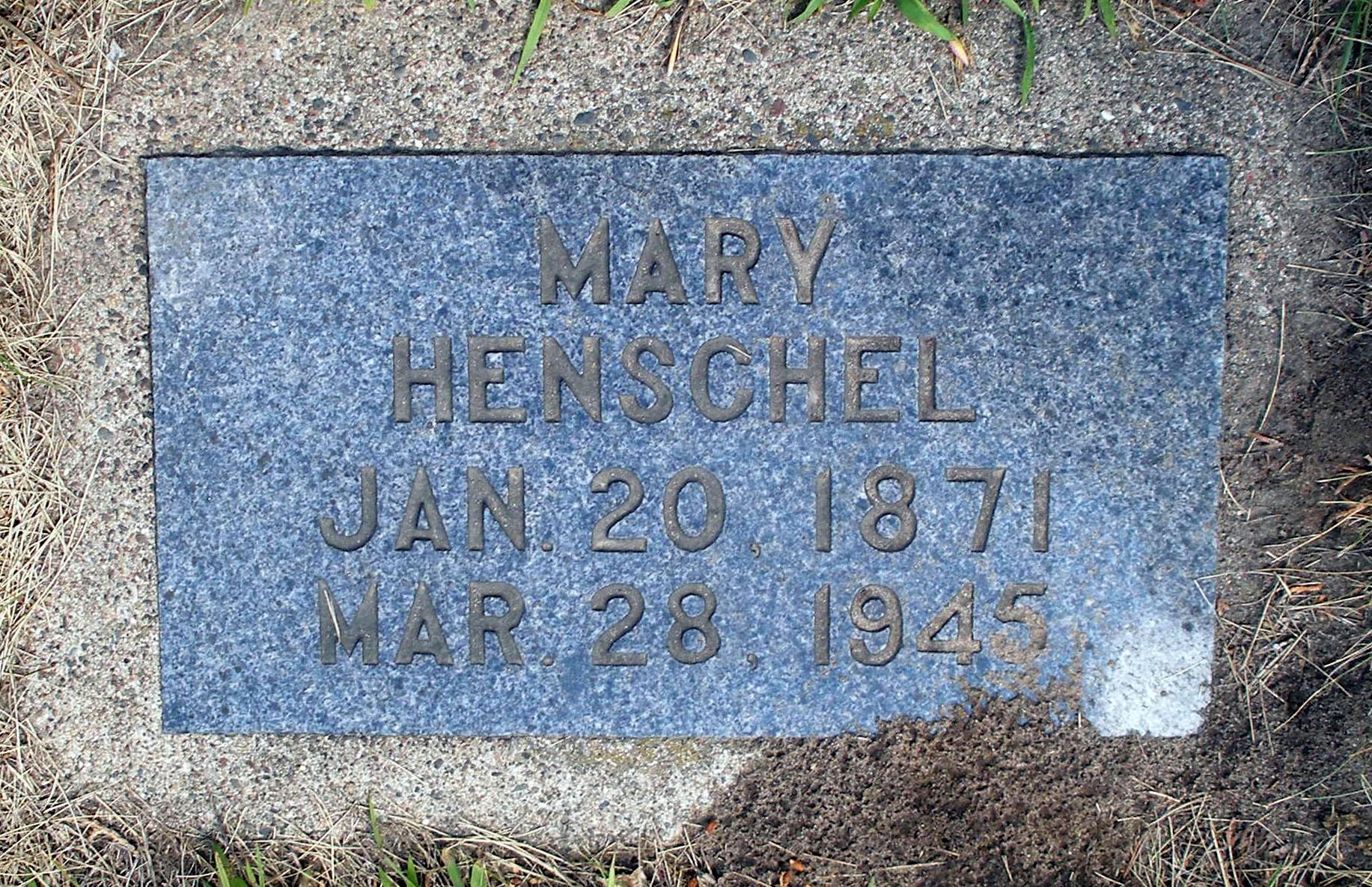 Mary <i>Senzel</i> Henschel