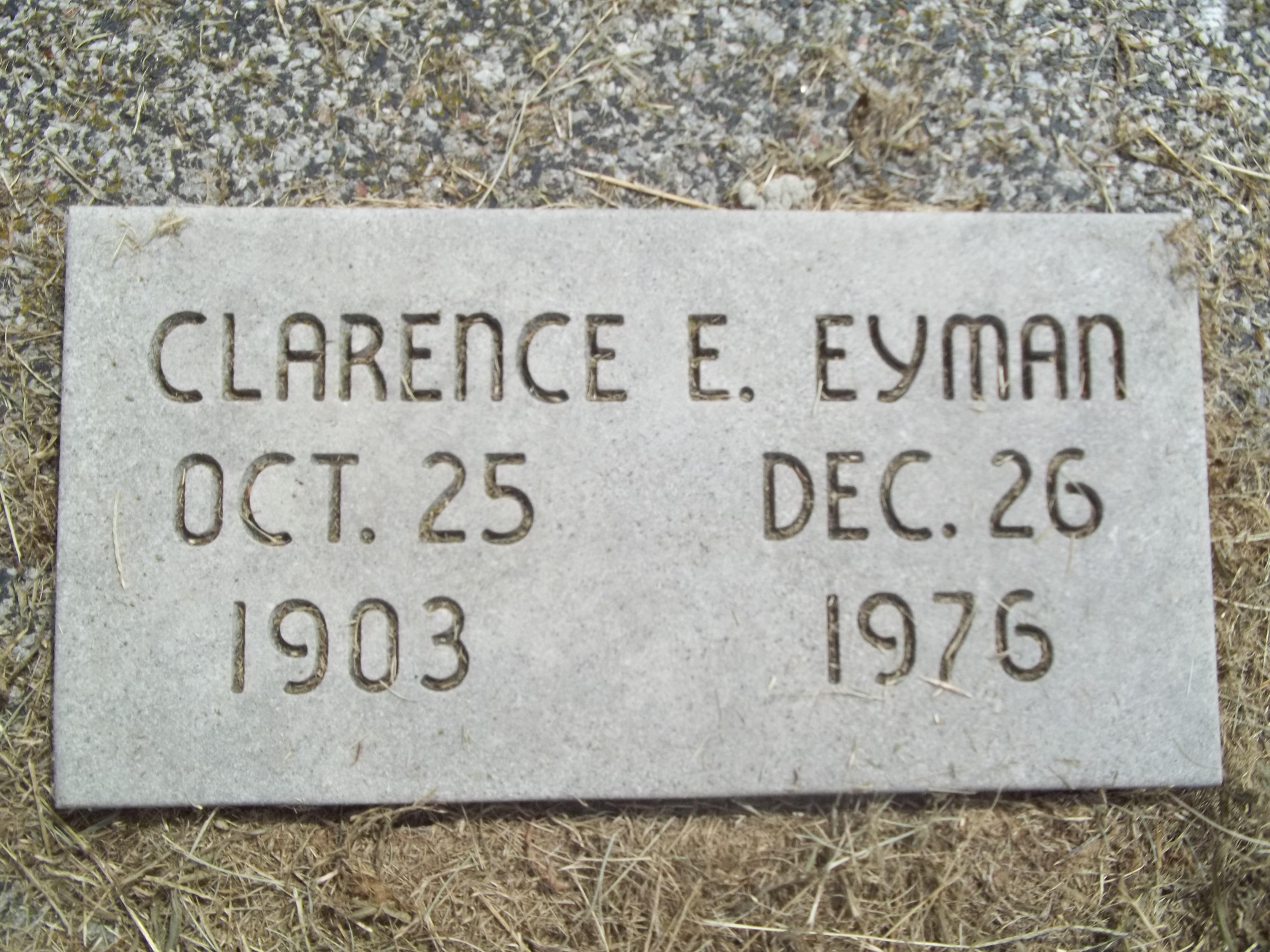 Clarence Edward Heavy Eyman