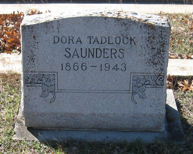 Dora E <i>Tadlock</i> Saunders
