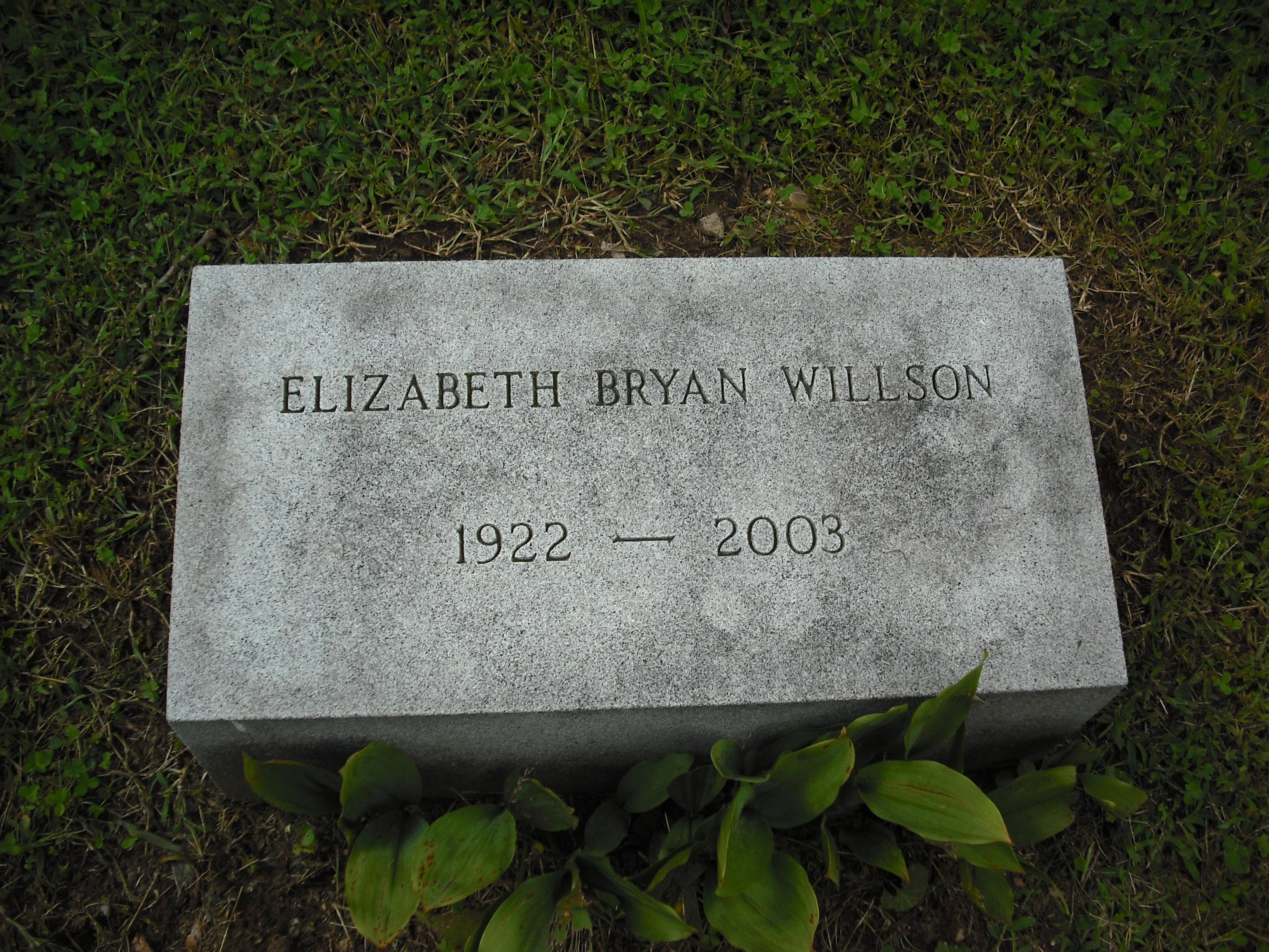 Elizabeth <i>Bryan</i> Willson