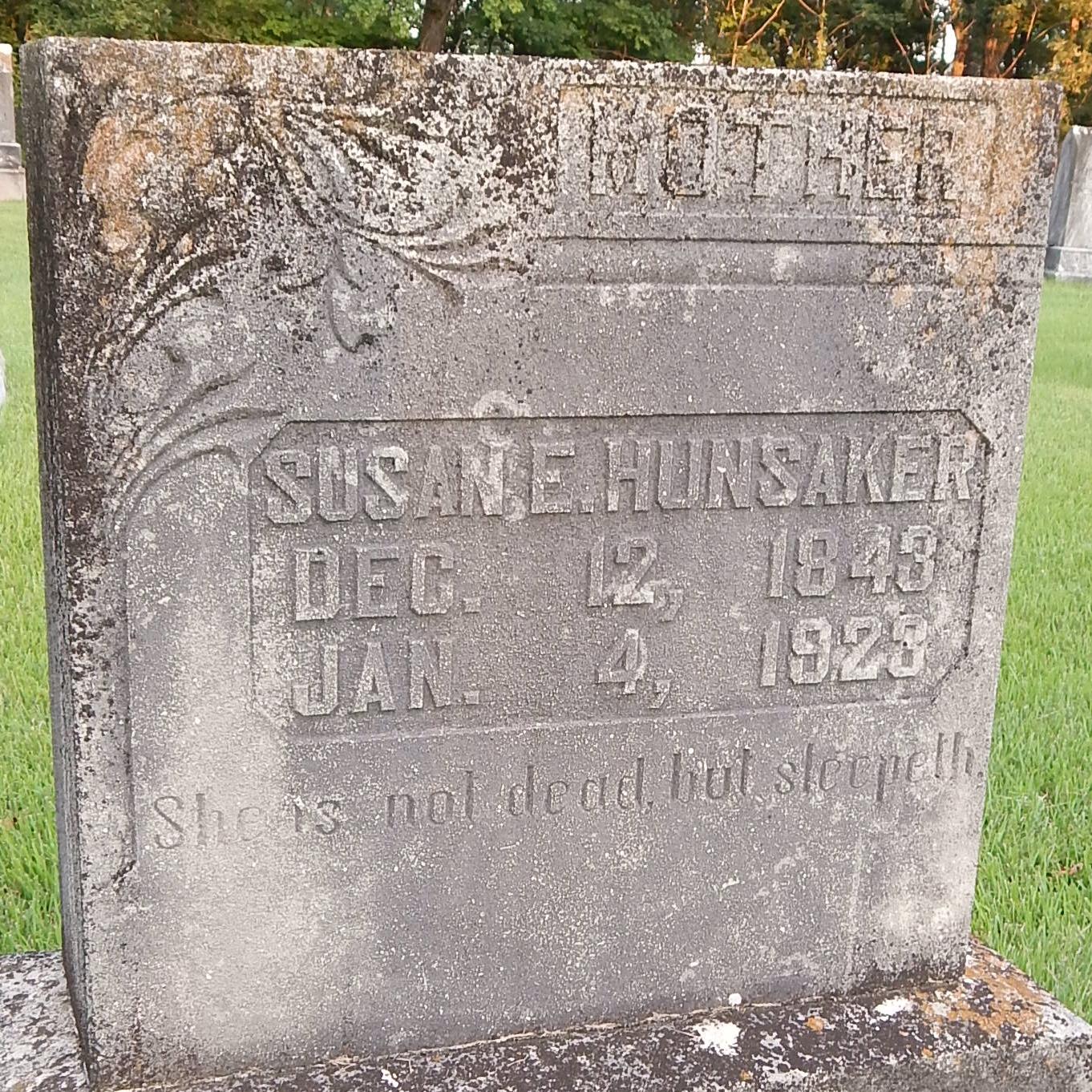Susan E. <i>Osborn</i> Hunsaker
