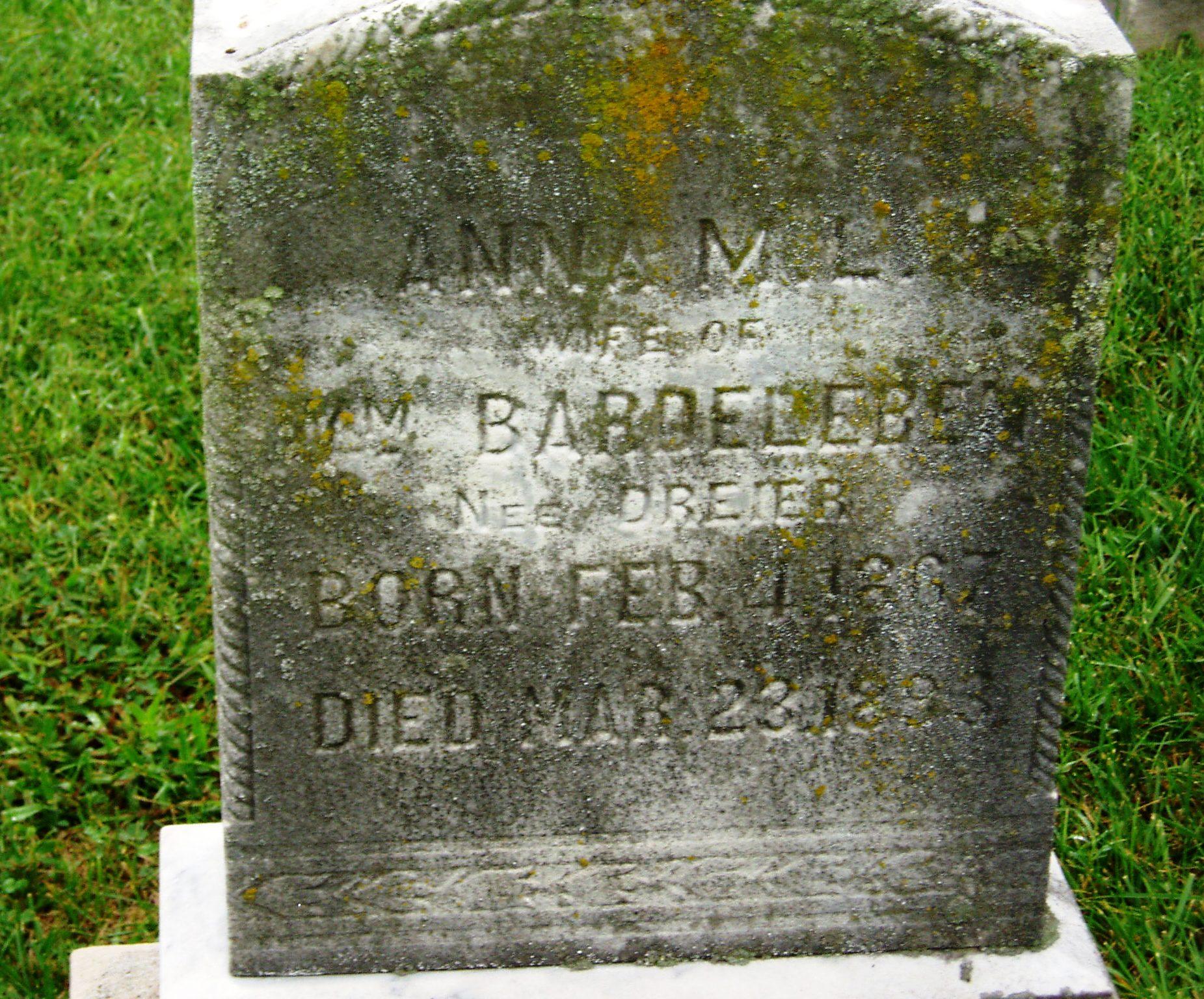 Anna <i>Dreier</i> Bardeleben