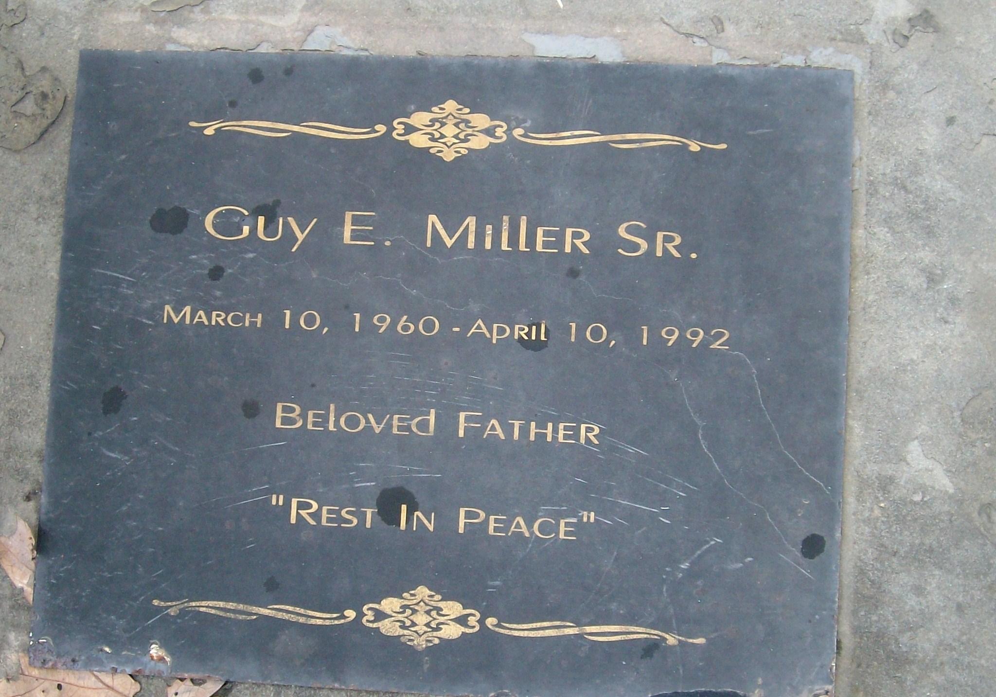 Guy E Miller, Sr