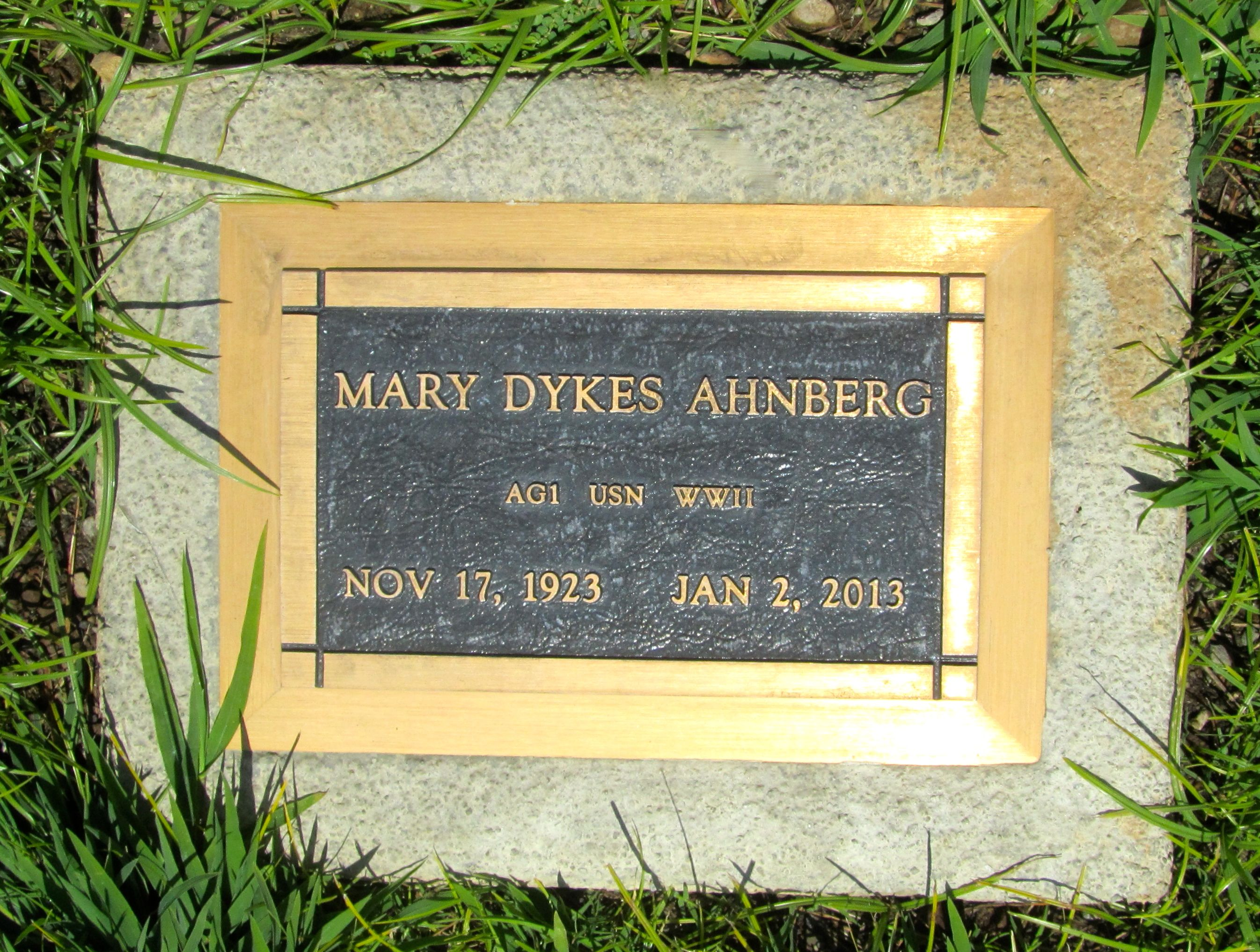Mary <i>Dykes</i> Ahnberg