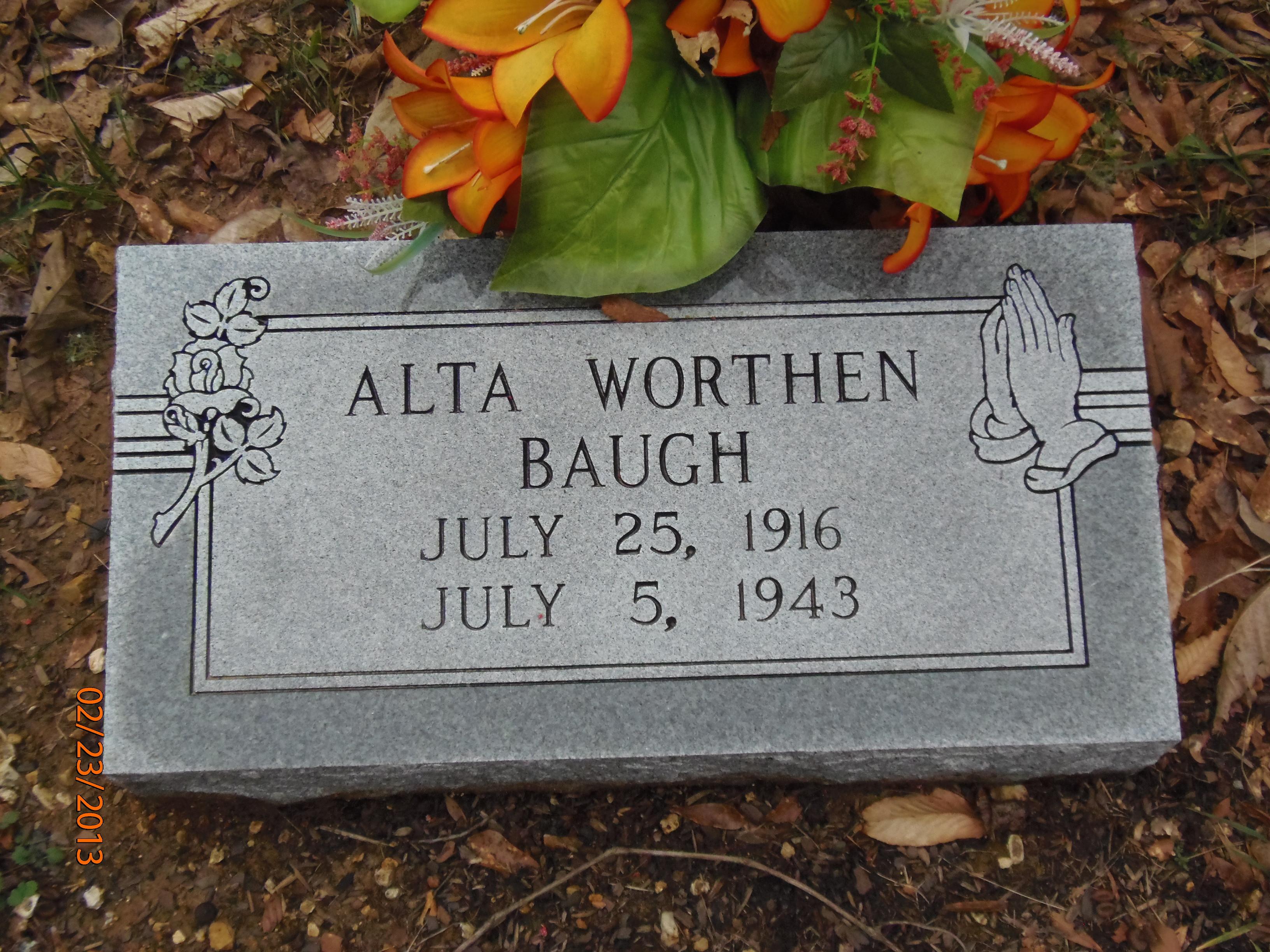 Alta <i>Worthen</i> Baugh