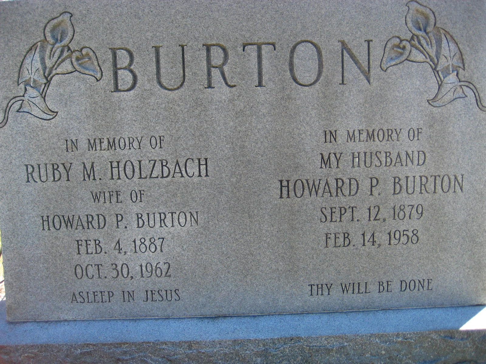Ruby May <i>Holzbach</i> Burton