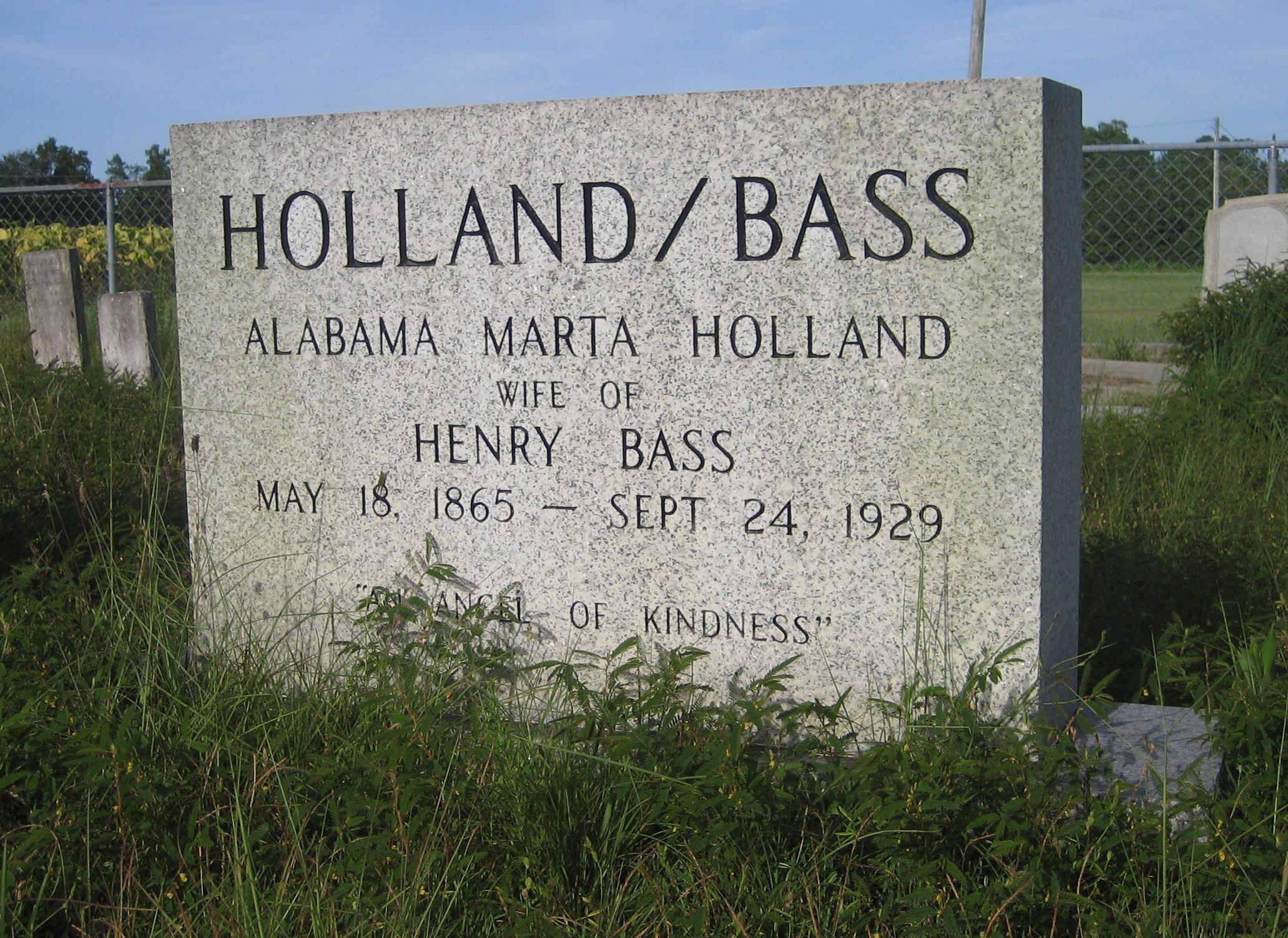 Alabama Marta Martie <i>Holland</i> Bass