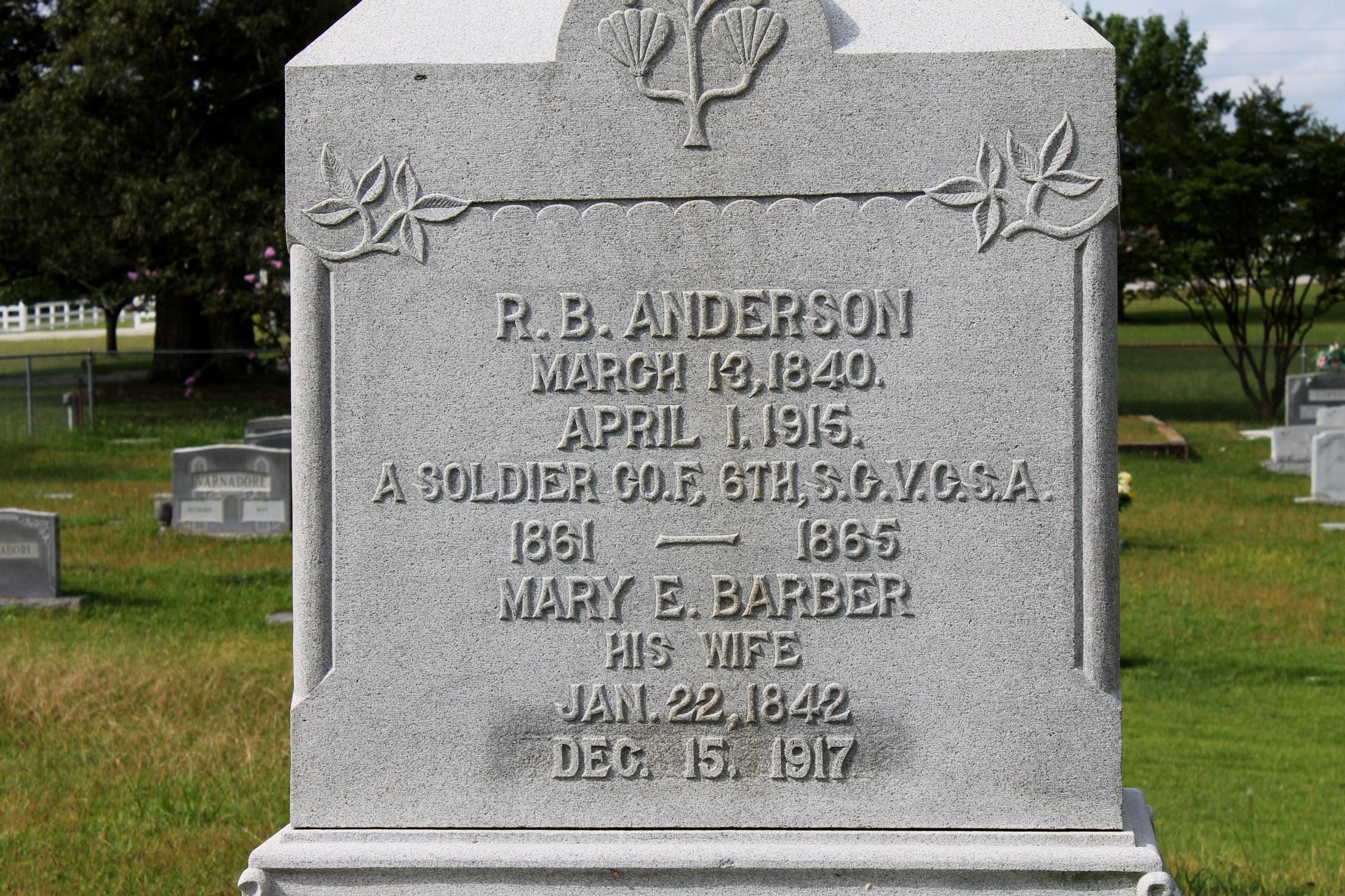 R B Anderson
