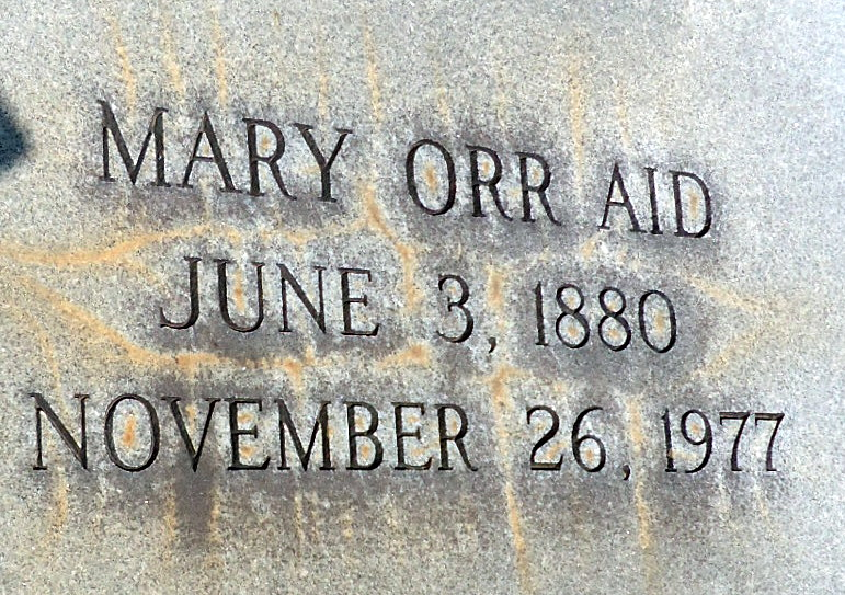 Mary <i>Orr</i> Aid
