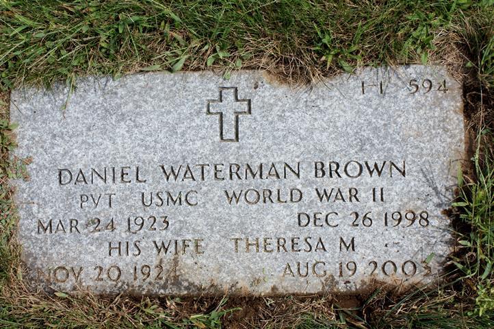 Pvt Daniel Waterman Brown