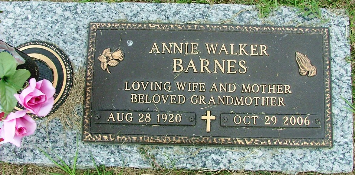 Annie <i>Walker</i> Barnes