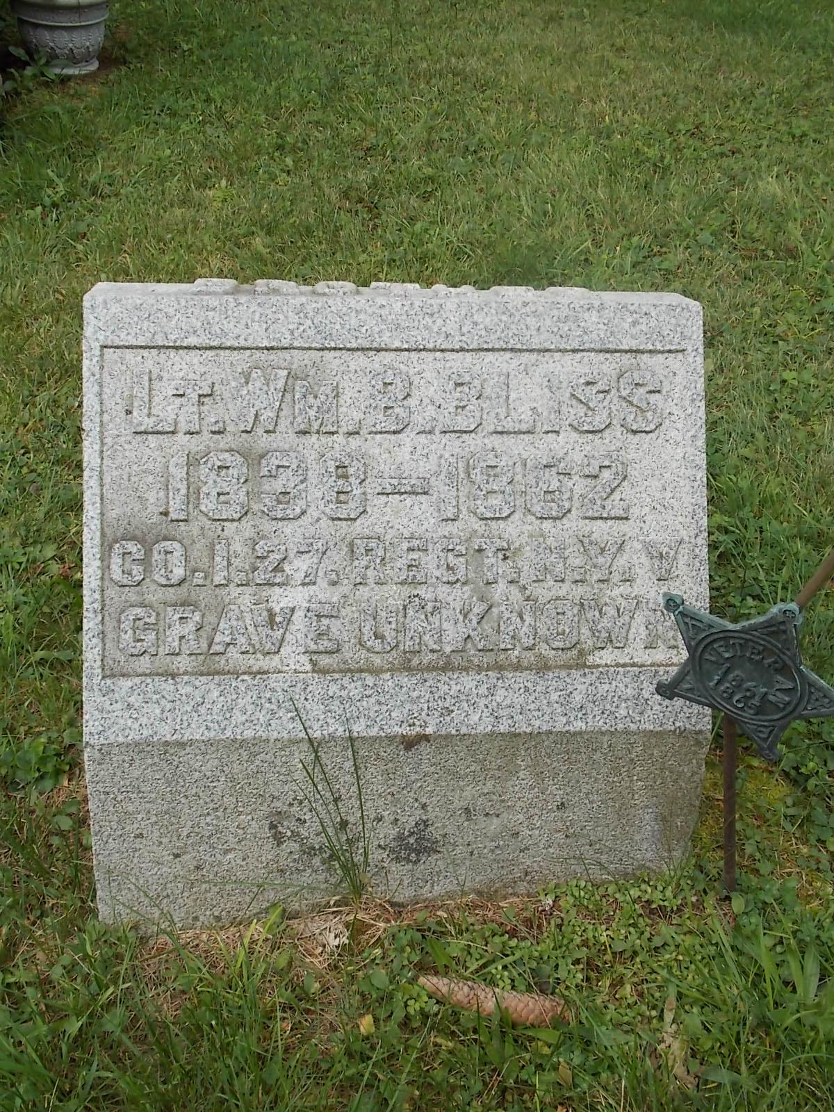 Lieut William Boss Bliss