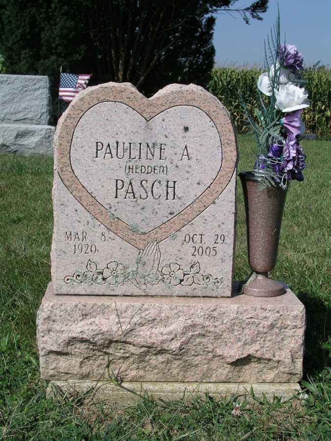 Pauline Althia <i>Hedden</i> Pasch