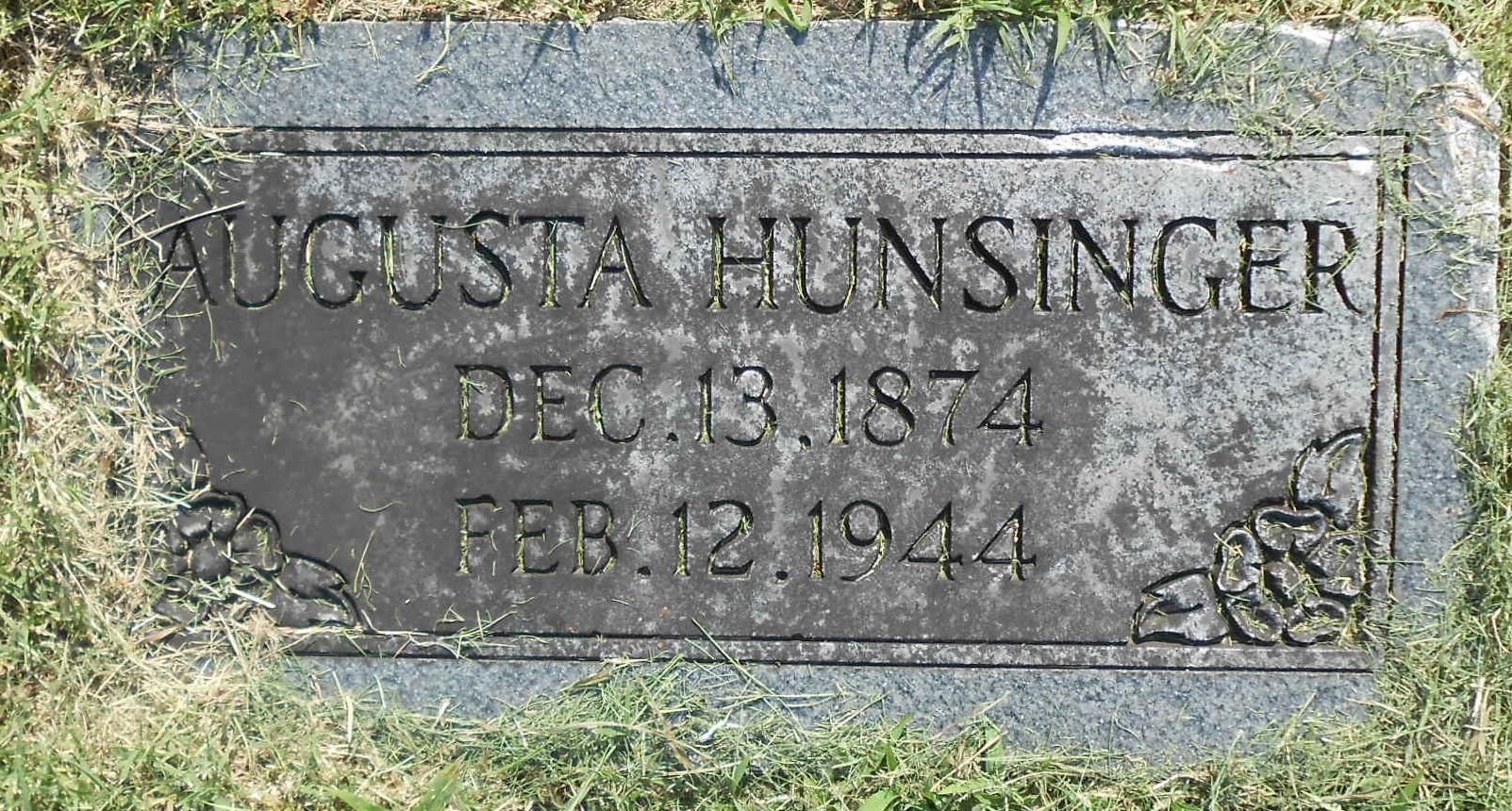 Augusta <i>Pearce</i> Hunsinger