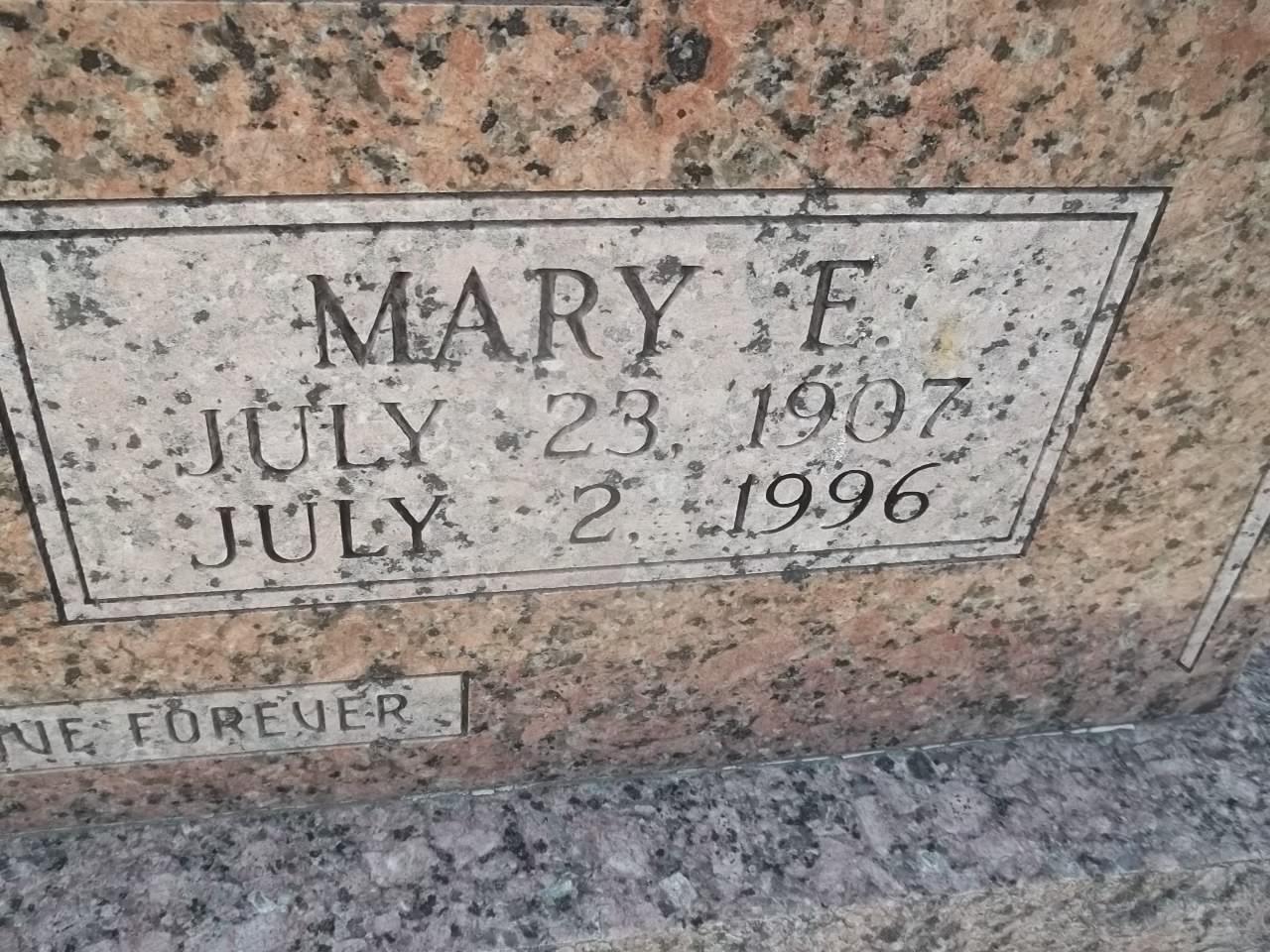 Mary E. Pegoda