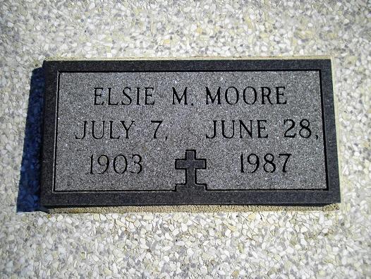 Elsie May <i>Brown</i> Moore