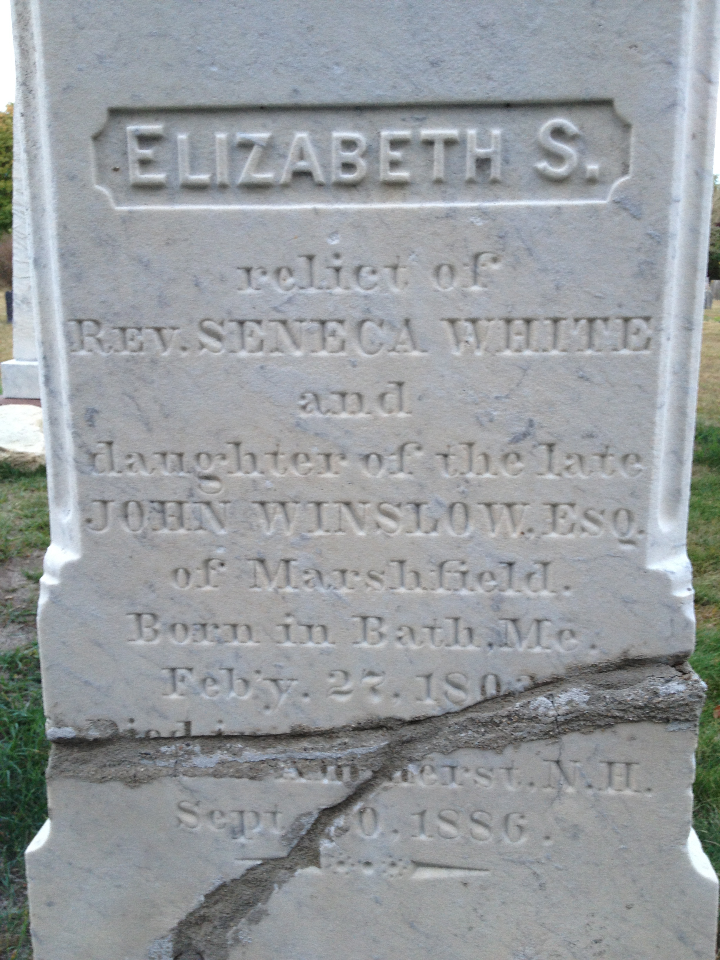 Elizabeth <i>Winslow</i> White