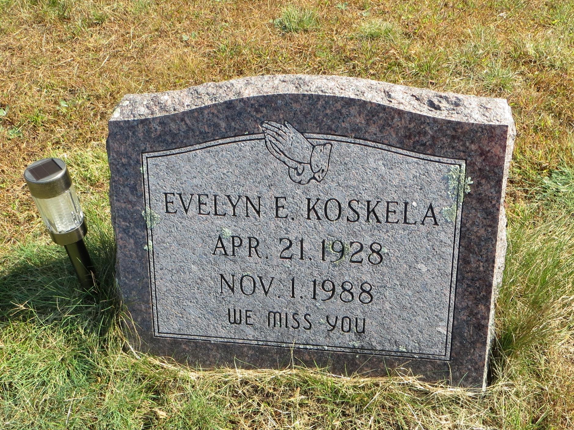 Evelyn E Koskela