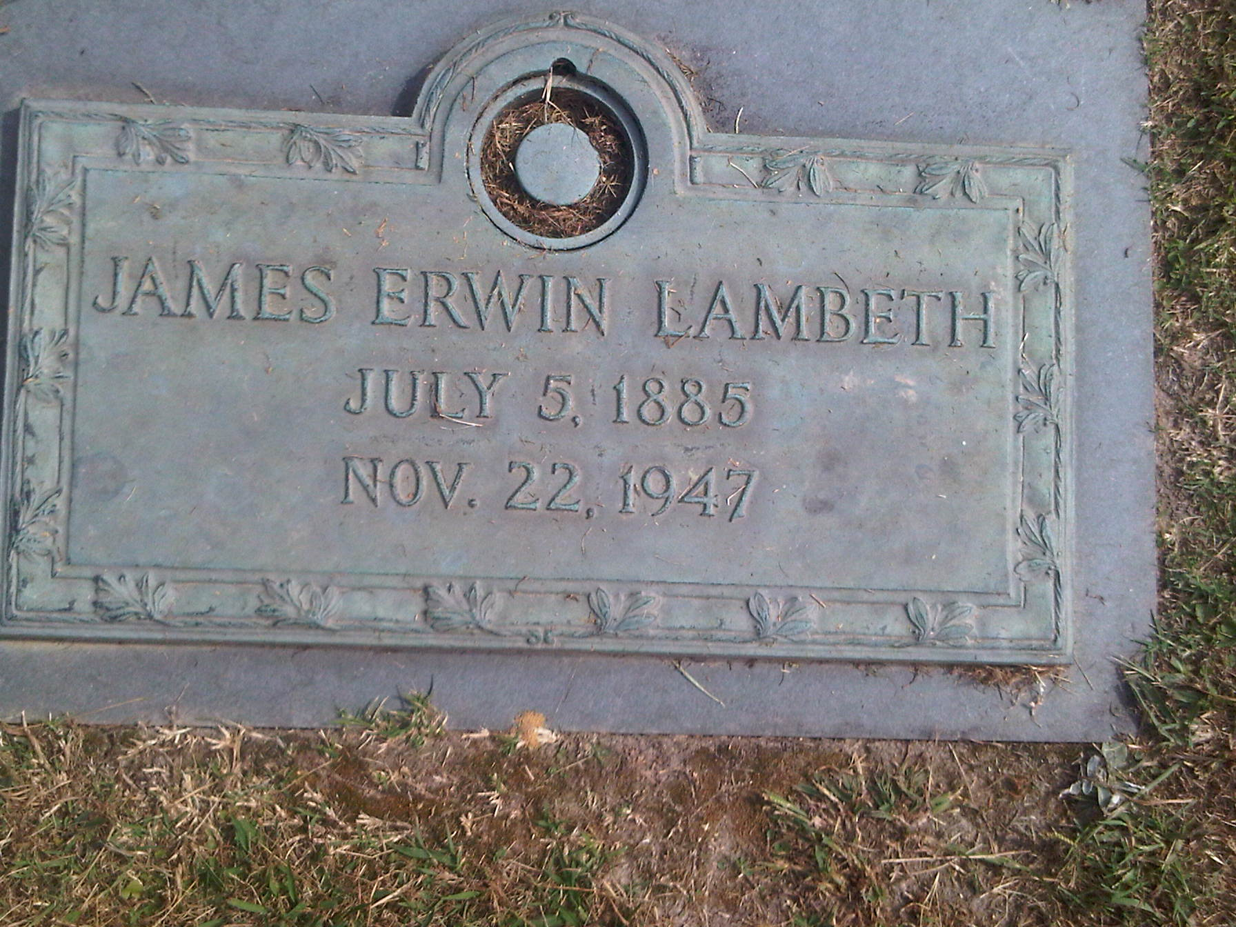 James Erwin Lambeth, Sr