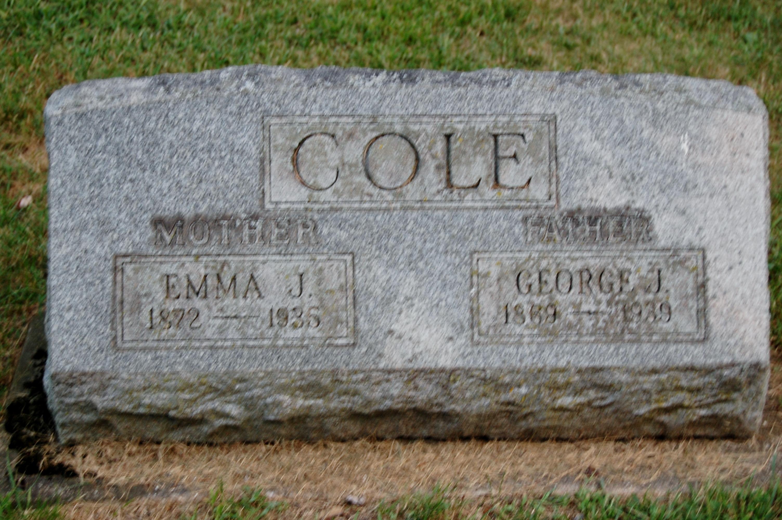 Emma J <i>Carlson</i> Cole