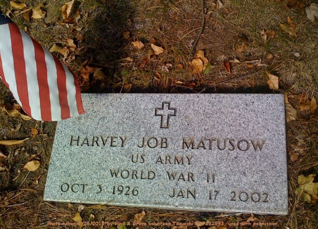 "Harvey Marshall ""Job"" Matusow (1926-2002) - Find A Grave"