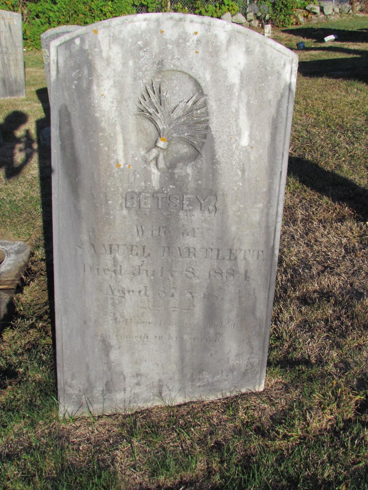 Betsy Elizabeth <i>Tucker</i> Bartlett
