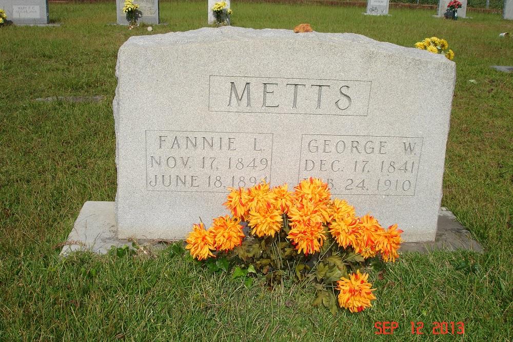 Frances Lenora Fannie <i>Gressette</i> Metts
