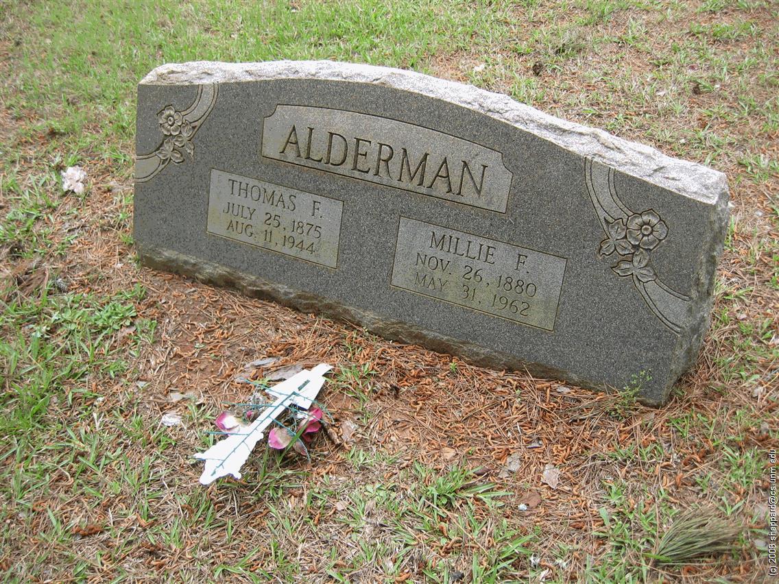 Millie Fredonia <i>Tims</i> Alderman