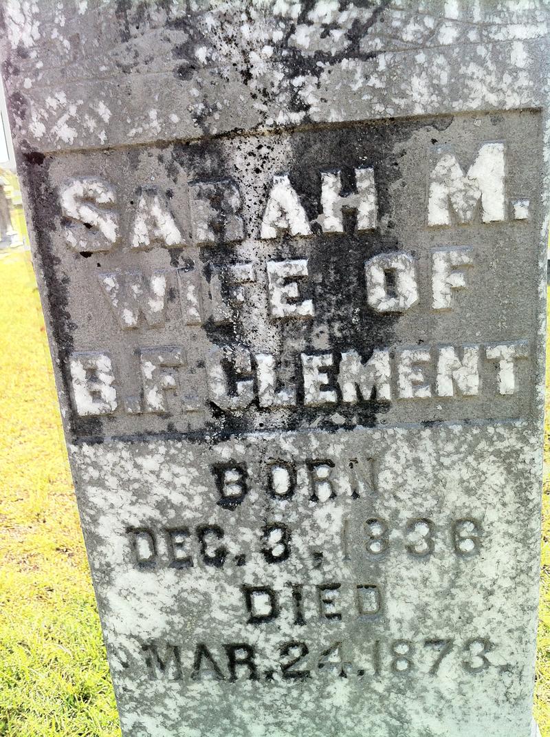 Sarah M <i>Hunnicutt</i> Clement