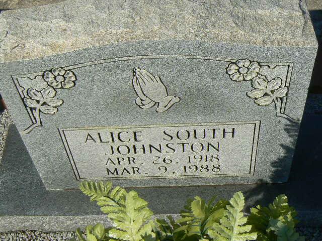 Alice <i>South</i> Johnston