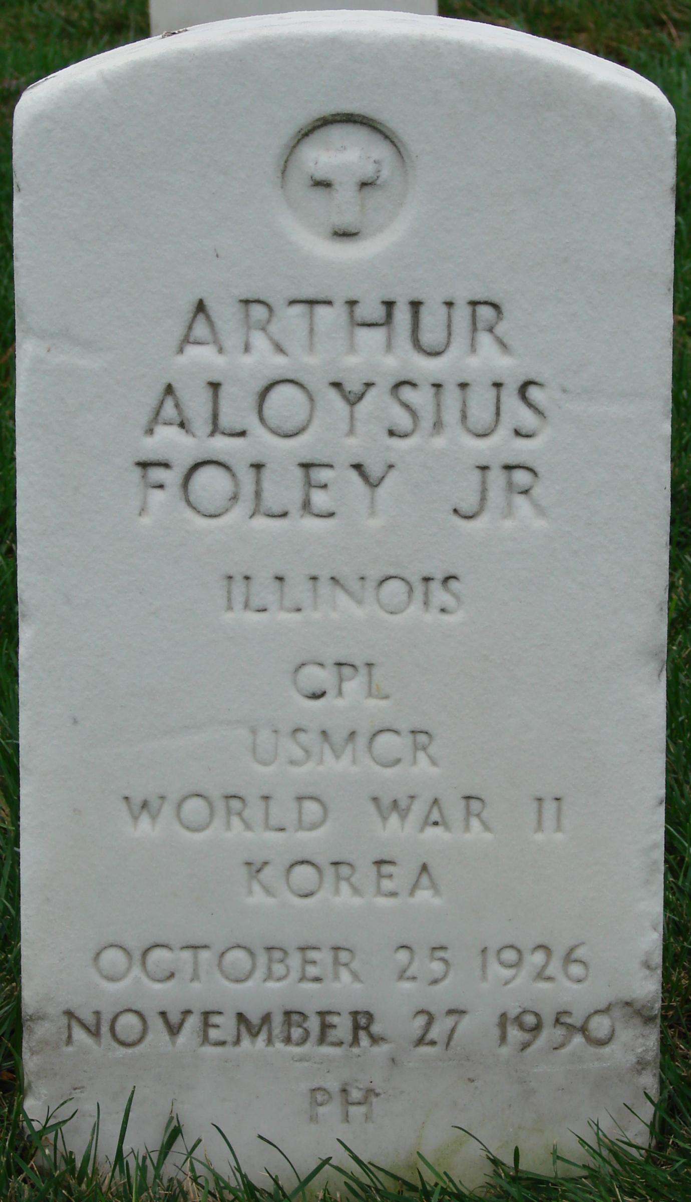 Corp Arthur Aloysius Foley, Jr