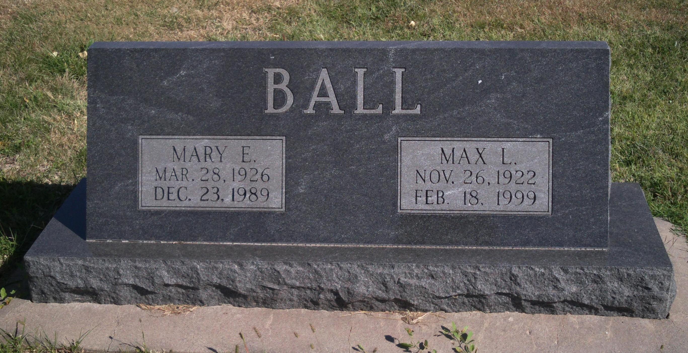 Mary Ellen <i>Sheridan</i> Ball