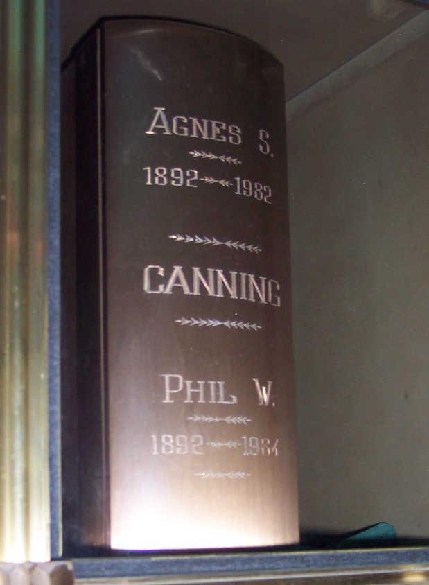 Agnes Sophia <i>Whytock</i> Canning