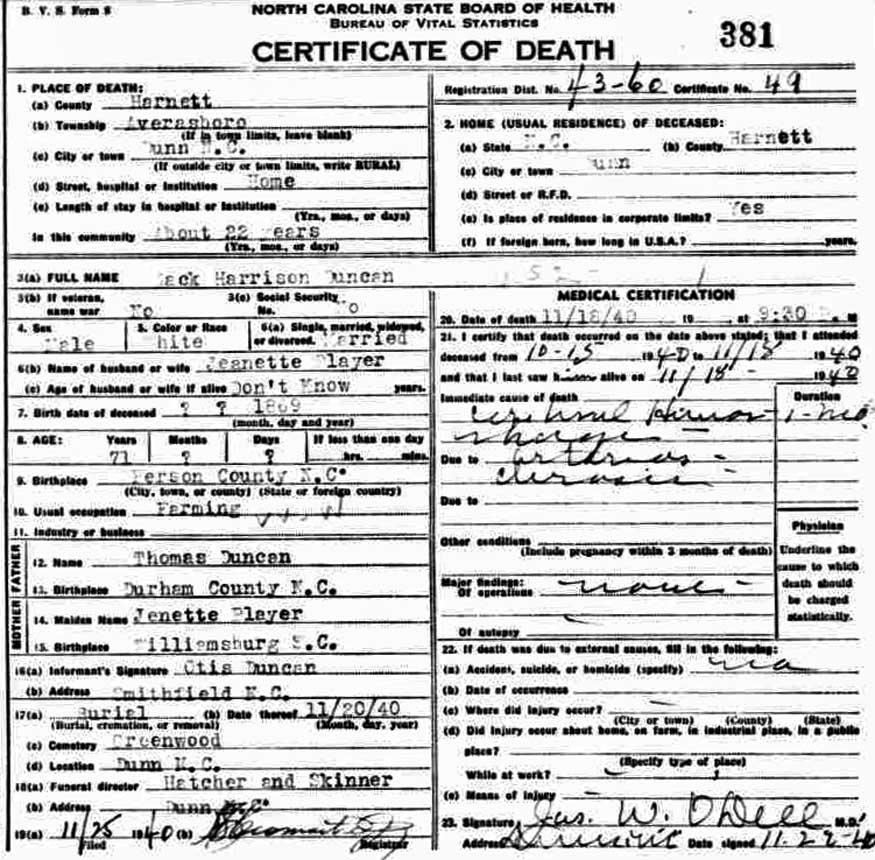 Zack Harrison Duncan 1870 1940 Find A Grave Memorial