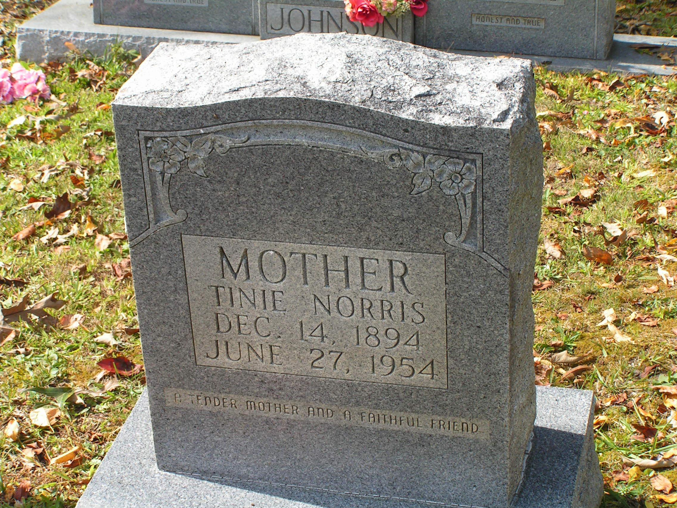Pastina matilda u201ctinieu201d clayborn norris 1894 1954 find a grave