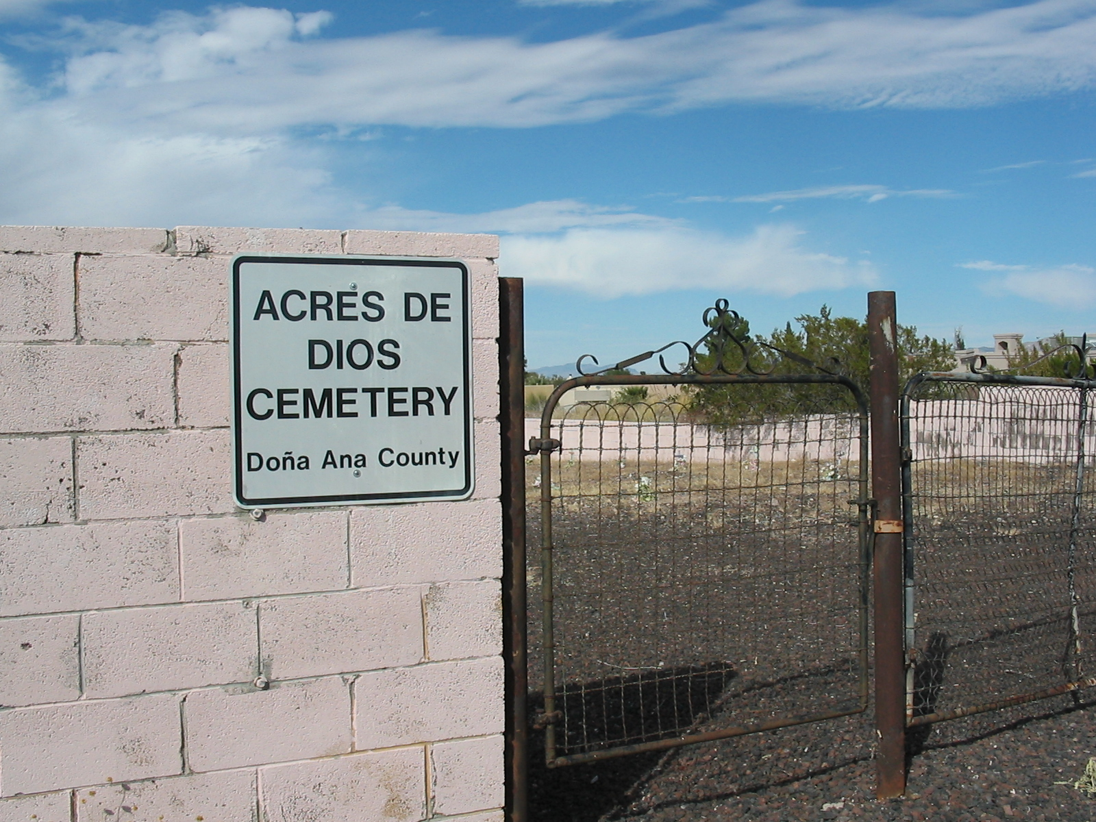 Acres De Dios Cemetery