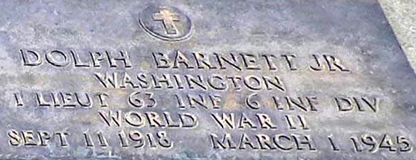 1LT Dolph Barnett, Jr