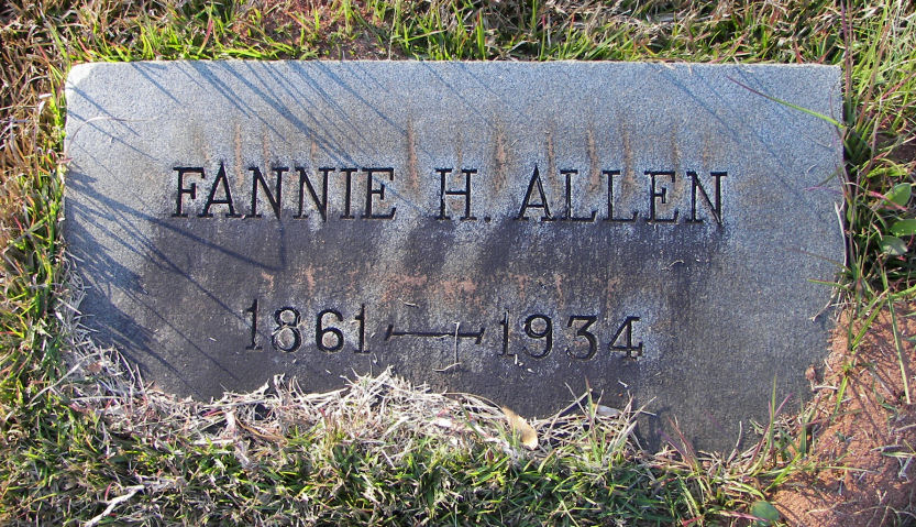 Fannie <i>Hewin</i> Allen