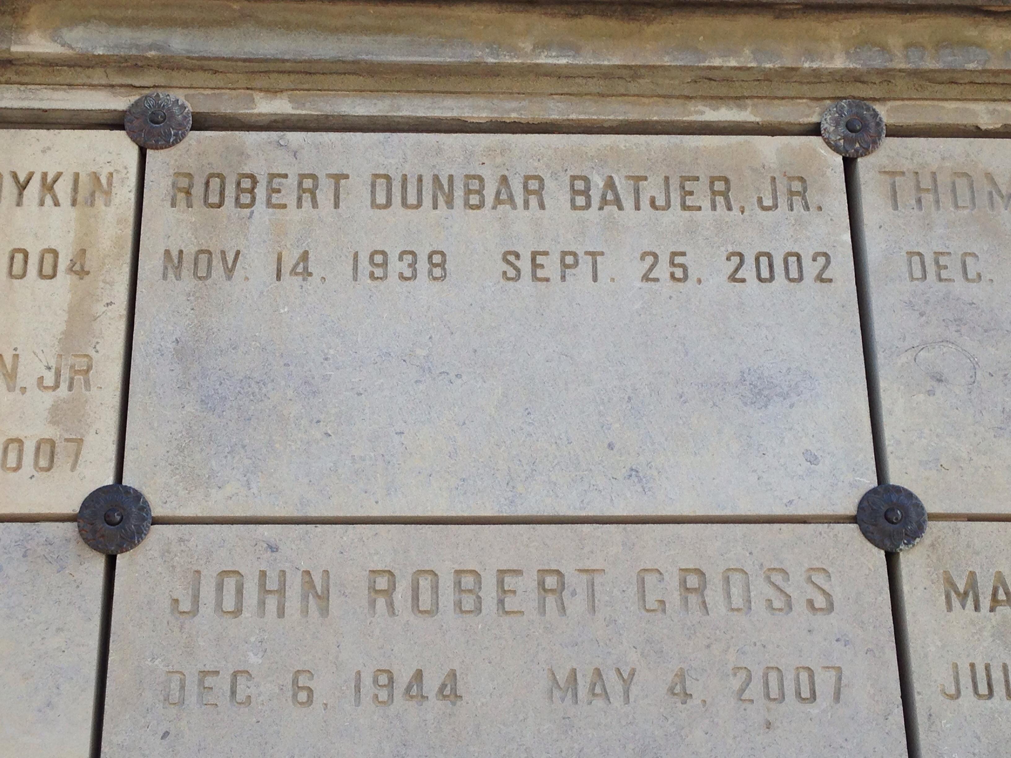 Robert Dunbar Batjer, Jr