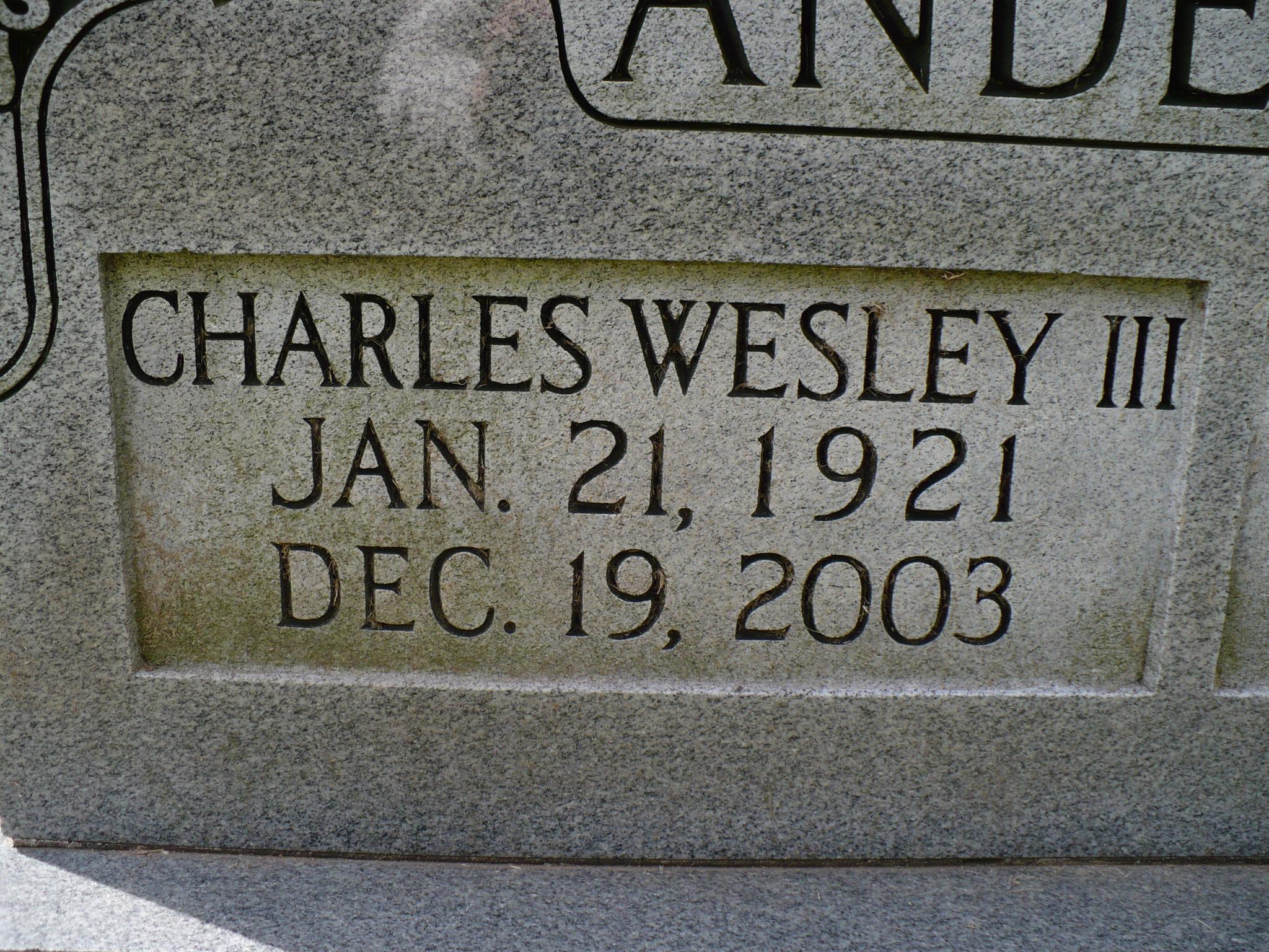 Charles Wesley Anderson, III