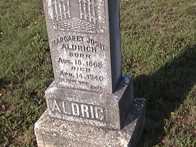 Margaret Josephine Josie <i>Murchison</i> Aldrich