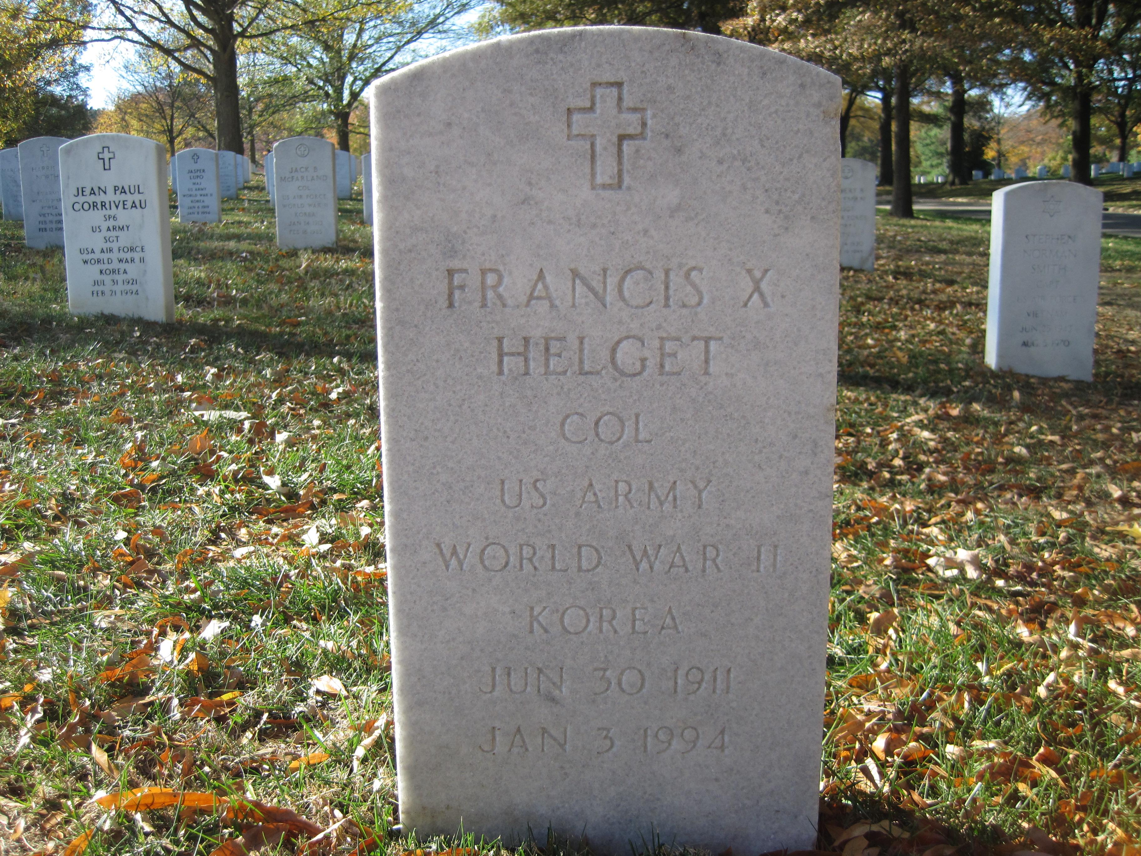 Francis X Helget