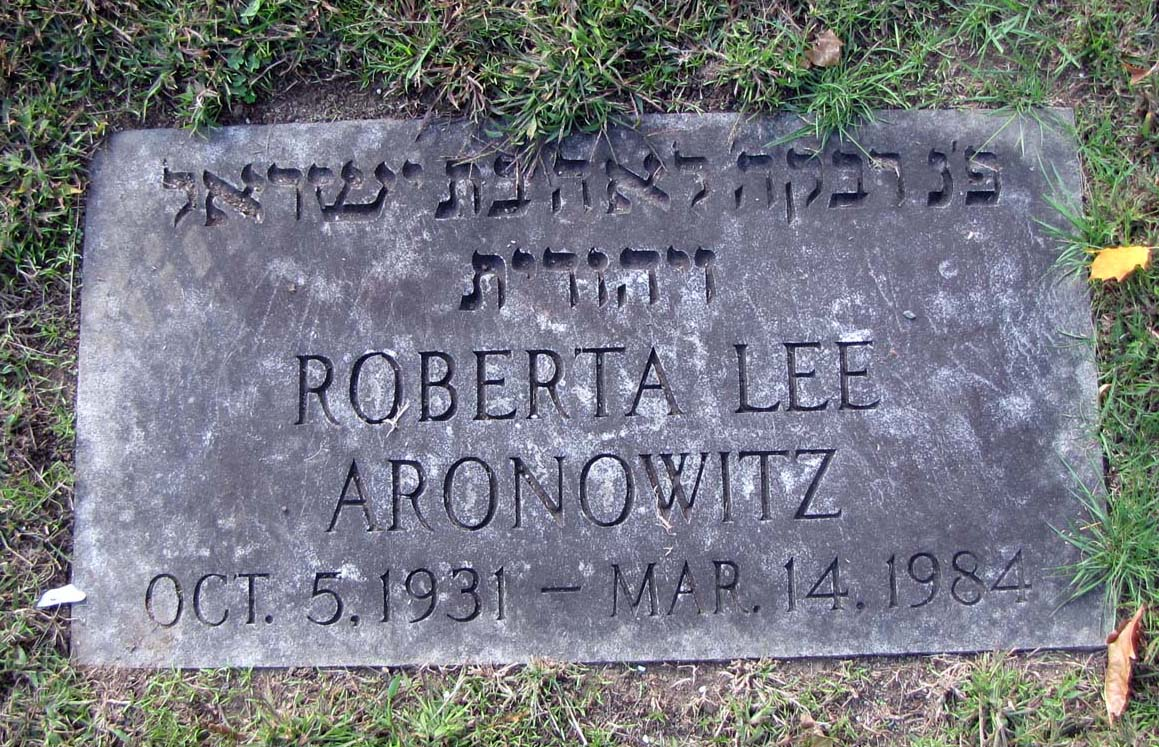 Roberta Lee <i>Morin</i> Aronowitz