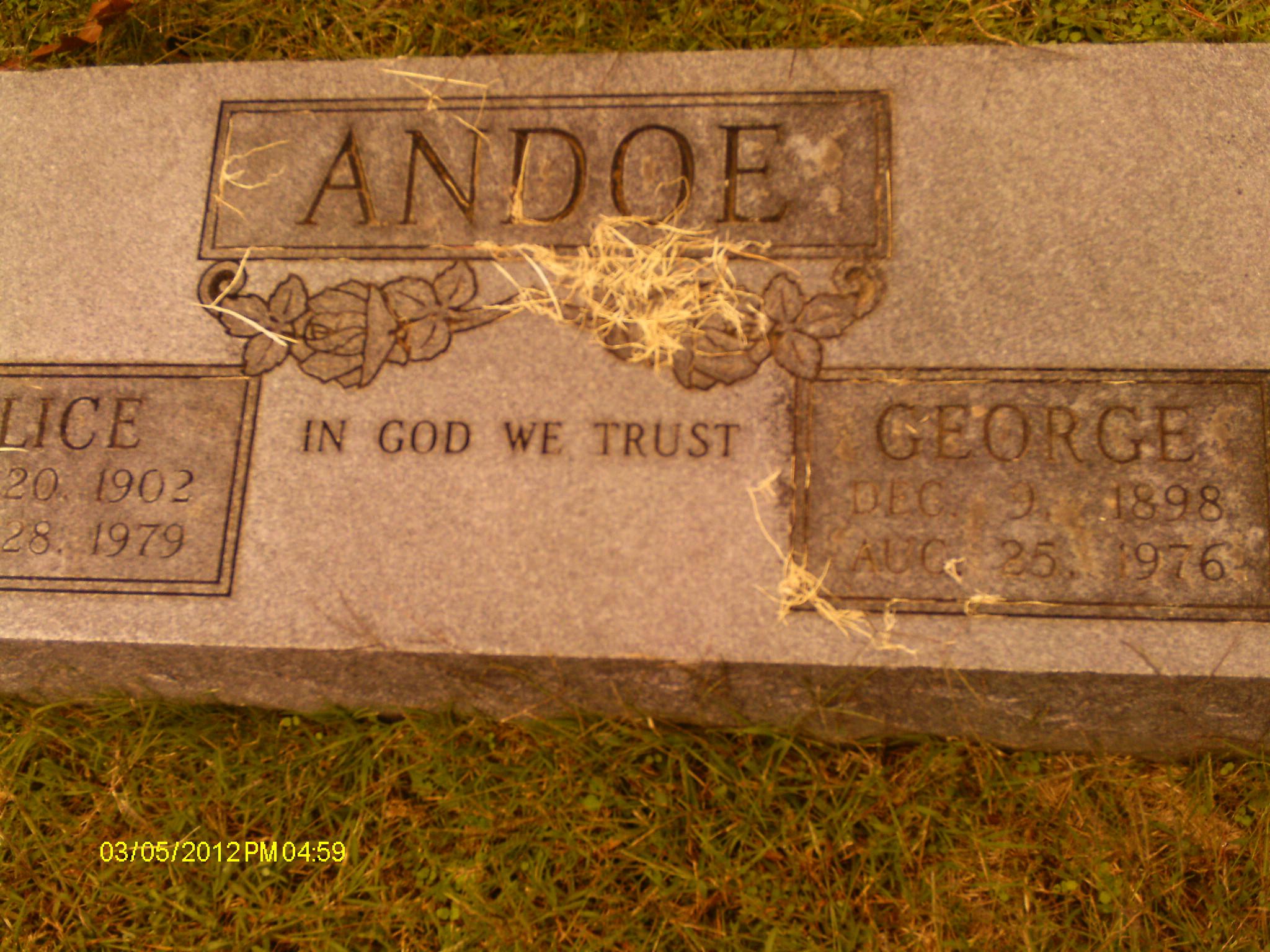 George Dewey Andoe