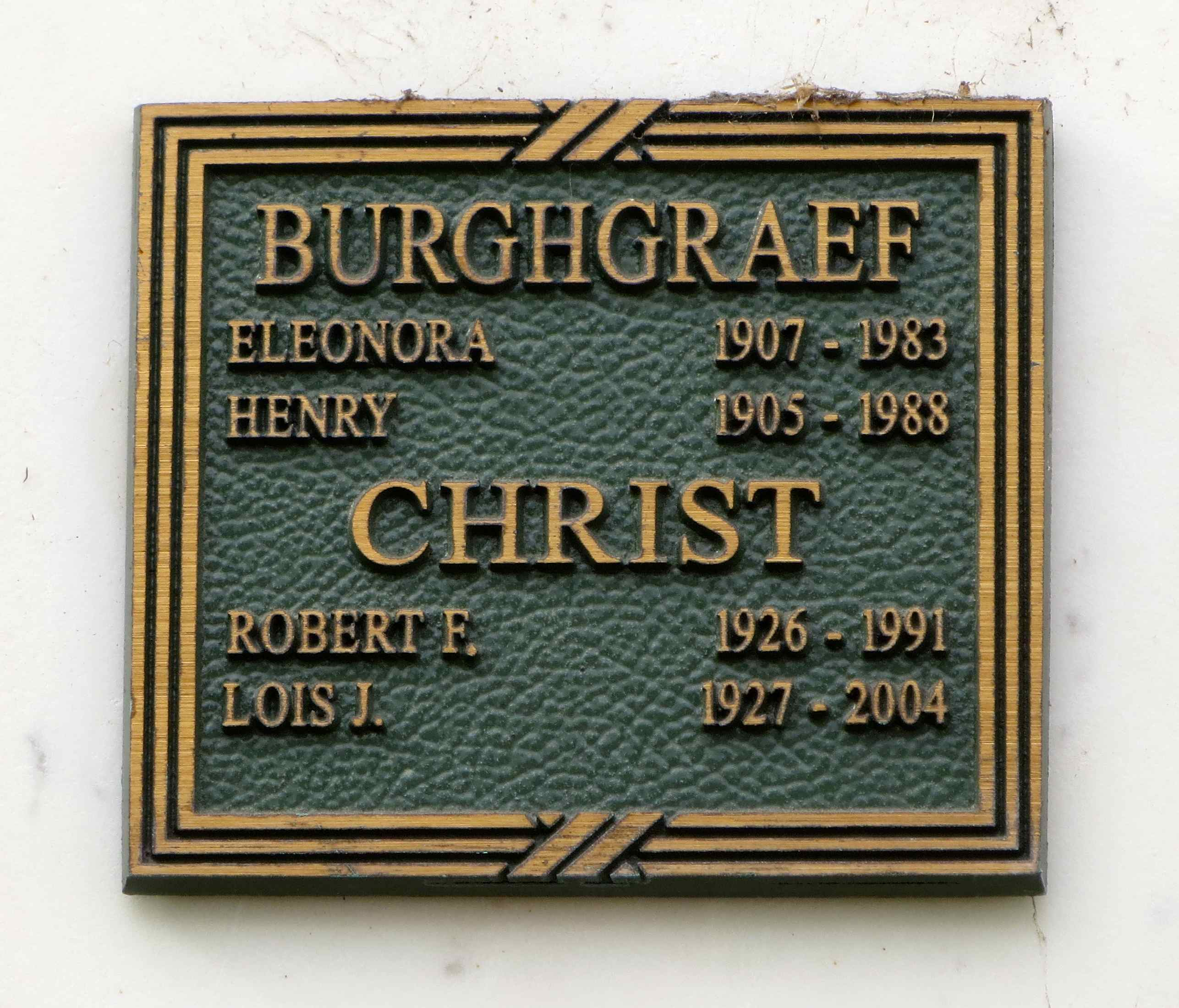 Eleonora H. <i>Dahlberg</i> Burghgraef