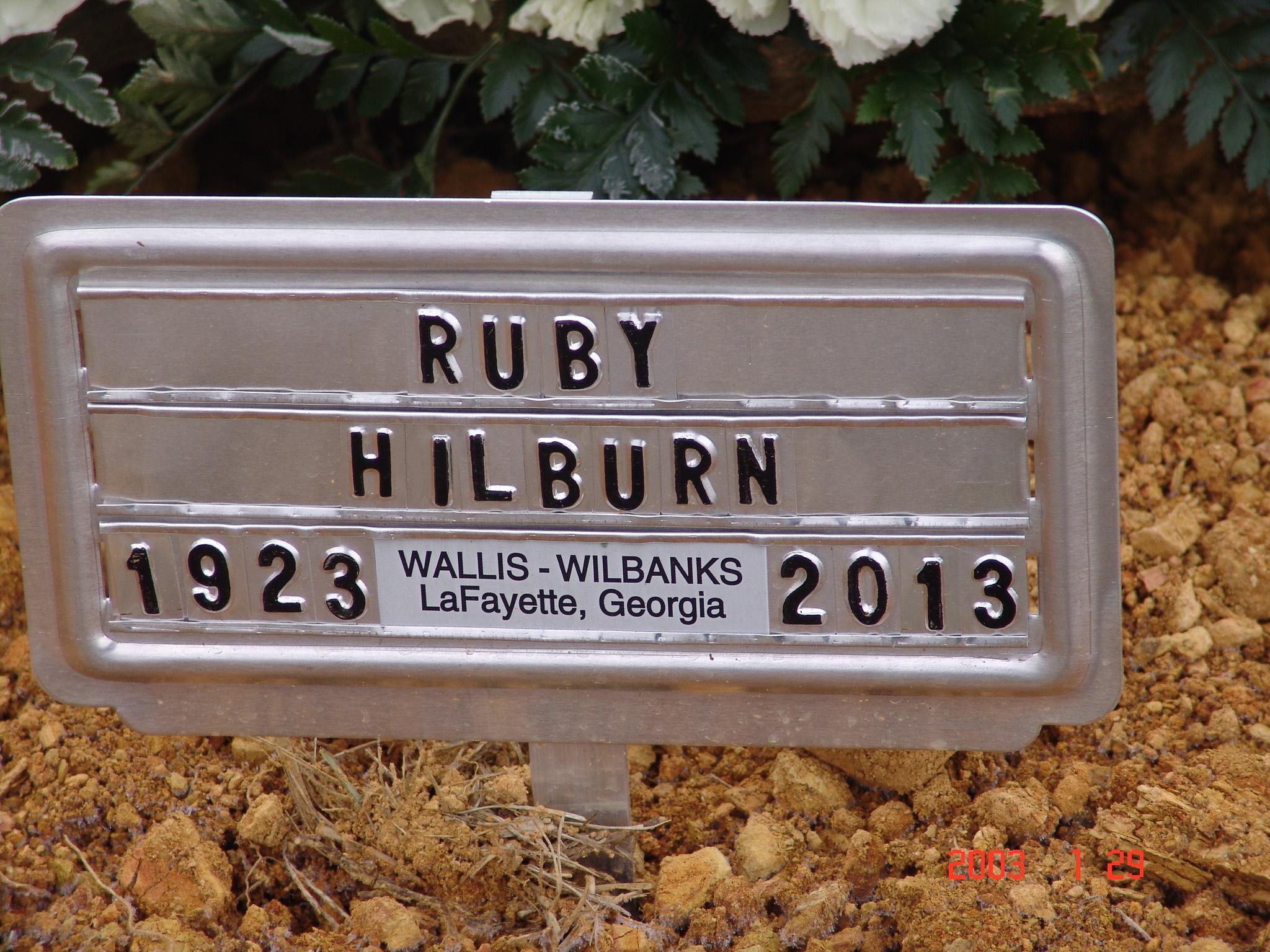 Ruby Bernice <i>Jones</i> Hilburn
