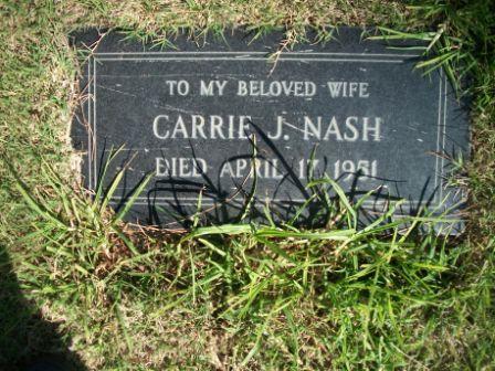 Carrie J <i>Dilg</i> Nash