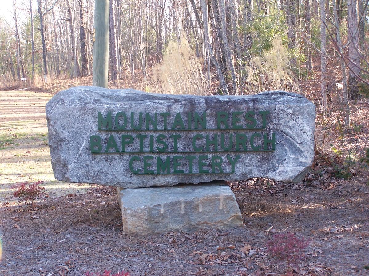 Mountain Rest Baptist Church Cemetery